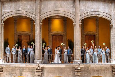 Fotografías de bodas de día de Club de Banqueros de México